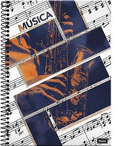 Caderno de Musica Grande Capa Dura 96 Fls - Foroni