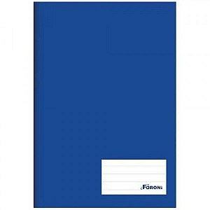 Caderno Brochura 1/4 Azul 96 folhas - Foroni