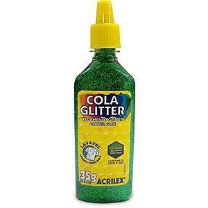 Cola Glitter Verde 35g - Acrilex