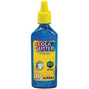 Cola Glitter Azul 35g - Acrilex