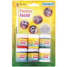 Pintura Facial Liquida 6cores 15ml  - Maripel