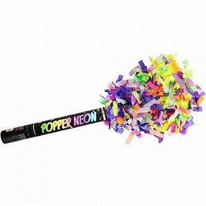 Lançador De Confete Crepom Colorido Neon - Popper