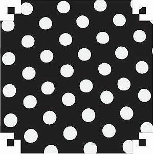 Colorset Preto com Bolas Brancas 48x66