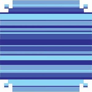 Colorset Dp Face 48x66 Listrado Azul