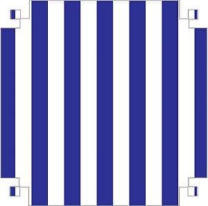 Colorset Dp Face 48x66 Listras/Azul