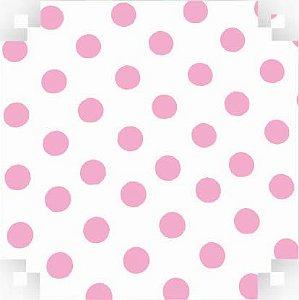 Colorset  Branco C/ Bolinha Rosa 48x66
