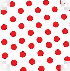 Colorset Branco C/ Bolinha Vermelha 48x66 - Vmp