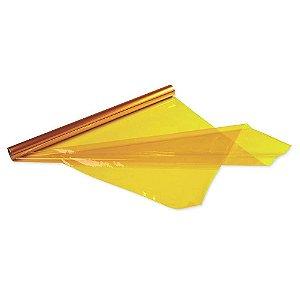 Papel Celofane Amarelo 85CmX1,00M. - CROMUS
