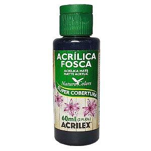 Tinta Acrílica Fosca 60ml Preto - Acrilex