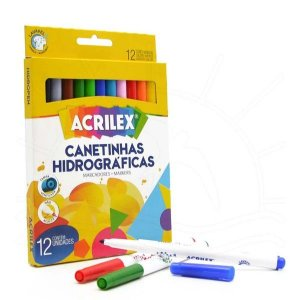 Canetinhas  Hidrográficas Abelhinha 12 cores - Acrilex