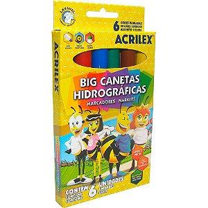 Big Canetas hidrográficas Abelhinhas C/6 - ACRILEX