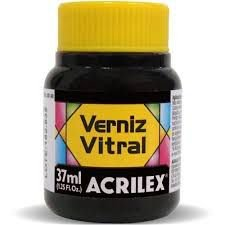 Verniz Vitral Preto 37ml - Acrilex