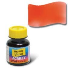 Verniz Vitral 37ml Laranja - Acrilex