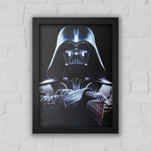Quadro Decorativo Darth Preto A3 - Beek