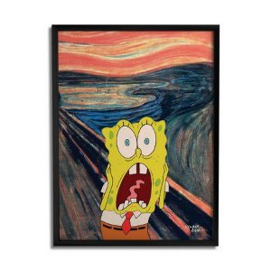 Quadro Decorativo Bob Esponja Scream - Beek