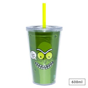Copo 600ml Rick and Morty Pickle Rosto - Beek