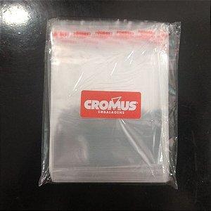 Saco Adesivado Transparente Com Furo 22x30-Cromus