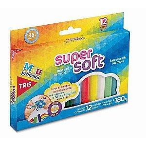 Massinha de Modelar Tris Super Soft 12 Cores Cx