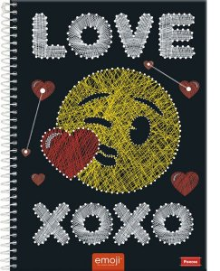 Caderno  Emoji Love 1M - Foroni