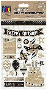 Adesivo Kraft Decorativo Aniversário - Toke E Crie