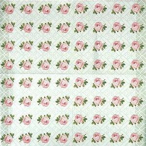 Guardanapo Para Decoupage Rosas E Arabescos 33x33cm - Toke E Crie