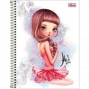 Caderno Univeristário Hi girls 10 matéria - Tilibra