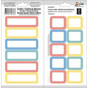 Adesivo Organizador Colorido - Tilibra