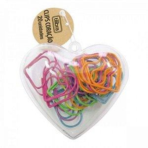 Clips Coração Colorido - Tilibra