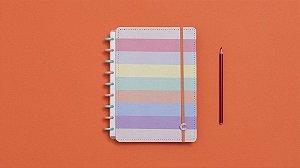 Caderno Arco-Iris Pastel Médio - Caderno inteligente