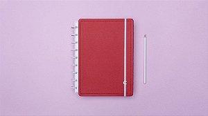 Caderno Vermelho Cereja - Medio - Caderno inteligente