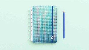 Caderno Azul Holografico - A5 - Caderno Inteligente