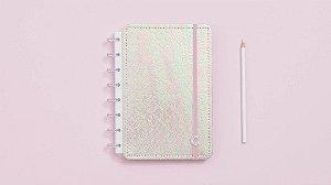 Caderno Rosa Holografico - A5 - Caderno Inteligente