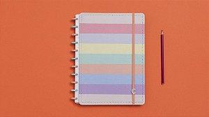 Caderno Arco-Iris Pastel Grande - Caderno Inteligente