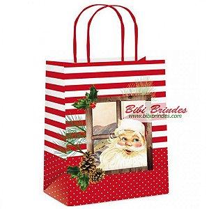 Sacola Papel Natal Rustica G