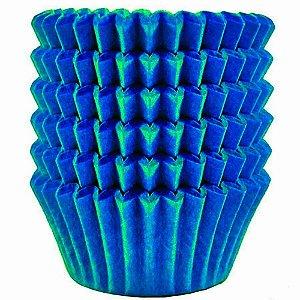 Formas De Papel P/Doces N.04 Azul 3,5x2cm Festcolor