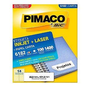 Etiqueta Carta 6182 - Pimaco