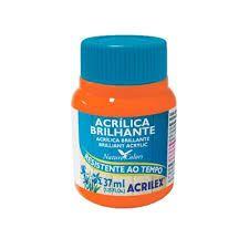 Acrílica Brilhante Laranja 37ml - Acrilex