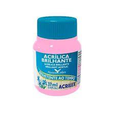 Acrílica Brilhante Rosa 37ml - Acrilex