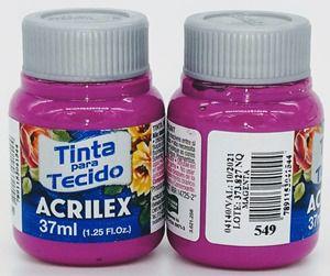 Tinta Tecido Magenta 37ml - Acrilex