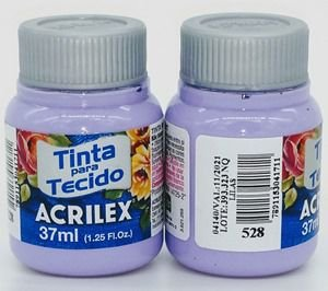 Tinta Tecido Lílas 37ml - Acrilex