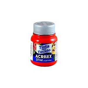Tinta Tecido Fosca Vermelho Fogo 37ml - Acrilex
