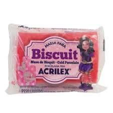 Massa Para Biscuit Vermelho 90g - Acrilex