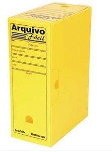 Caixa Arquivo Morto Amarelo Plástico - Polibras