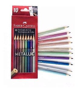 Ecolapis Cor Metallic 10 Cores - Faber-Castell