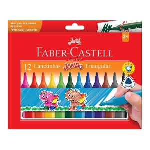 Canetinha Triangular Jumbo 12 Cores - Faber-Castell