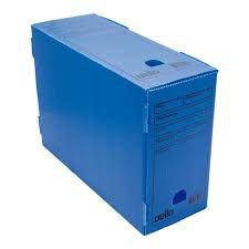 Caixa Arquivo Morto PoliDello Oficio Azul - Dello