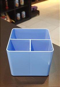 Porta Objetos Azul Pastel C/ 3 Divisórias - Dello
