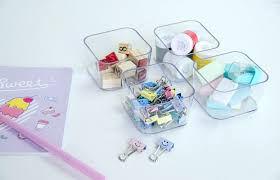 Porta Objetos Pequeno Cristal C/ 4 Peças - Dello