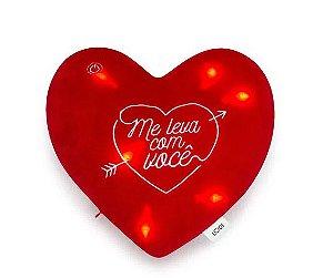 Almofada Led Coração Me Leva - Ludi
