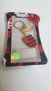 Chaveiro Ouro Escudo Flamengo - Cebola